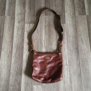 Fossil Soft Leather Brown Explorer Crossbody Bag